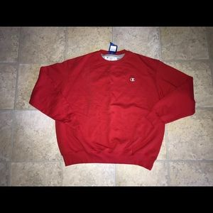 Champion Eco Fleece Crewneck Sweatshirt RED Sz. XL
